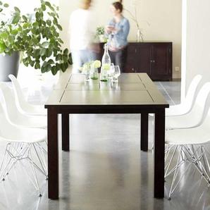 Table en bois de java 140x90 papillon Actuo Aka