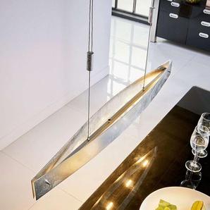 Suspension LED salle à manger Lio feuille argentée