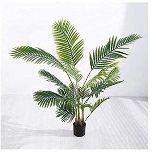 Mode Faux Tiger Piran Plant Simulation, Sol Fleur De grandes plantes en pot en plastique Décorations darbre décoratifs for lintérieur dextérieur moderne Home Decor 121 (Size : Large)