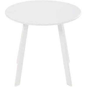 Table basse de jardin ronde en métal blanc Monopoli