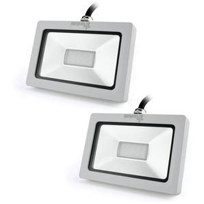 2×Auralum Projecteur à LED 10W Ultraléger pour Éclairage Extérieur et Intérieur Spot IP65 Haute Luminosité 750LM SMD 3030 Blanc Froid 6000K