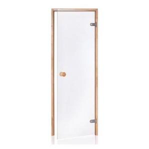Porte de Sauna en verre sécurite 8 mm cadre en pin 70 x 190 transparente - DESINEO