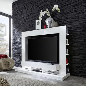 Ensemble de meuble TV blanc design ALEXIA