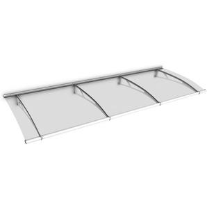 Auvent marquise de porte, 270 x 95 cm, LT Line, transparent, fixation blanche - SCHULTE
