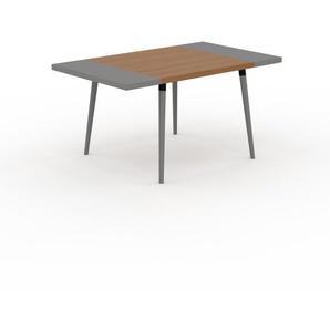 Table à manger - Chêne, design scandinave, pour salle à manger ou cuisine nordique, table extensible à rallonge - 150 x 75 x 90 cm
