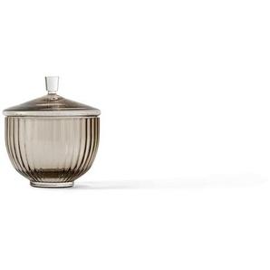 Lyngby Porcelæn Bonbonnière en verre Lyngby  - couleur fumée - Ø14 cm