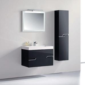 Meuble de salle de bain CALABRO 800 Noir - DISTRIBAIN