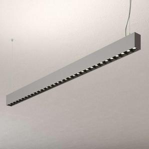 Suspension bureau LED Laris argenté dimmable DALI