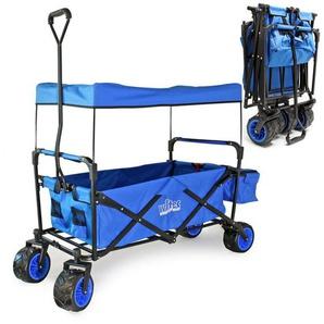 Chariot de transport pliable Auvent Protection solaire Grande zone de rangement et Poches Diable - WILTEC