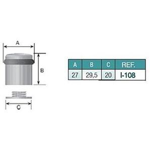 EVI Herrajes I-108-CB - Butoir de porte, pack de 2 unités, finition laiton mat laiton