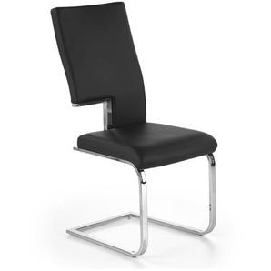 Chaise design et confort noire Clint