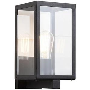 Applique extérieure rectangulaire Moderne noire avec verre - Rotterdam Qazqa Moderne Luminaire exterieur IP44