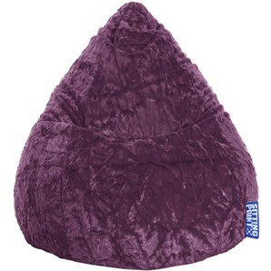 Pouf Fluffy aubergine XL - SITTING POINT
