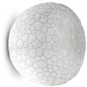 METEORITE-Applique ou Plafonnier Verre Ø15cm Blanc Artemide - designé par Pio & Tito Toso