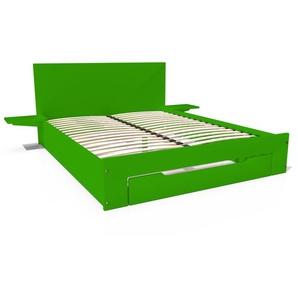 Lit Happy + tiroirs + chevets amovibles - 2 places 160x200 Vert