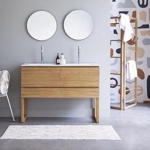 Meuble Salle de bain en bois de teck et céramique 120 Edgar