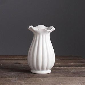 SK Stuido Grand Décorateur Gloss Memorial à dragées en porcelaine haute européenne Vase en céramique Idéal pour les mariages, blanc, Taille unique