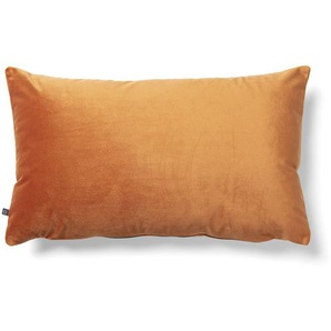 Kave Home - Housse coussin Lita 30x50 cm velours orange