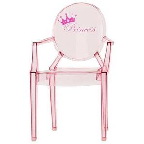 Kartell Lou Lou Ghost - Chaise d'enfant avec motif - rose foncé/motif princesse/LxPxH 40x37x63cm