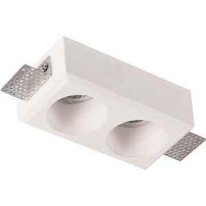 Support spot plâtre double rond - VEOLIGHT