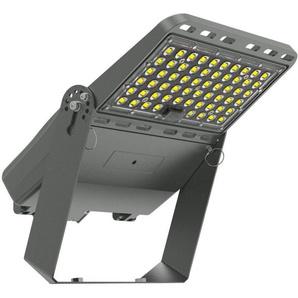 Projecteur LED Pro Asymétrique Luxeon 100W 160 lm/W Mean Well ELG Dimmable avec Support - LEDKIA