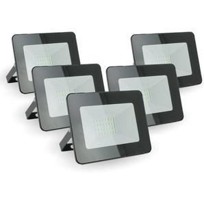 Lot de 5 projecteurs LED 20W IP65 extérieur | Température de Couleur: Blanc neutre 4000K - ECLAIRAGE DESIGN