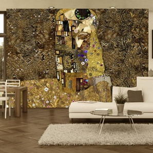 Papier peint - Klimt inspiration - Golden Kiss