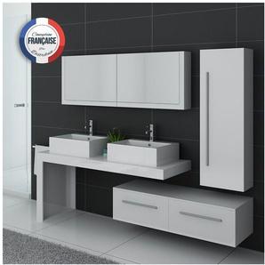Meuble de salle de bain DIS9350 Blanc - DISTRIBAIN
