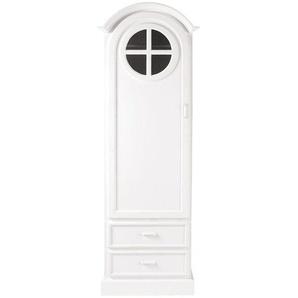 Armoire bonnetière blanche 1 porte 2 tiroirs Marguerite