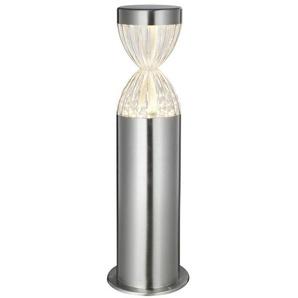 SABLIER-Borne dextérieur LED Métal H56cm aluminium brosse Lumihome