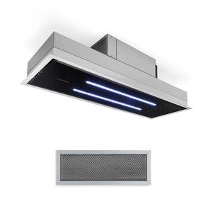 Klarstein High Line Hotte de plafond 90cm 410m3/h 3 niveaux classe C Noire