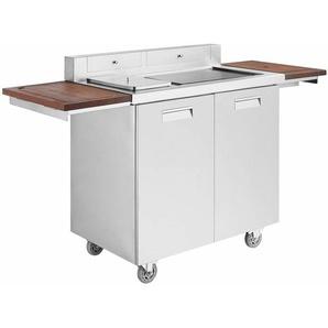 GREADEN Grill Barbecue électrique dextérieur pour Jardin Terrasses Pique-Nique, BBQ en INOX Plaque Teppanyaki antiadhésive, température réglable