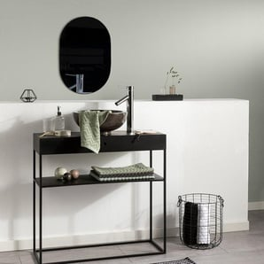 Tapis de Bain Bono Noir & Blanc 50x80 cm - Tapis pour salle de bain