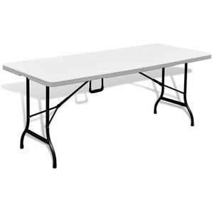 Table de jardin pliable blanche en HDPE - 180 x 75 x 74 cm - PEGANE