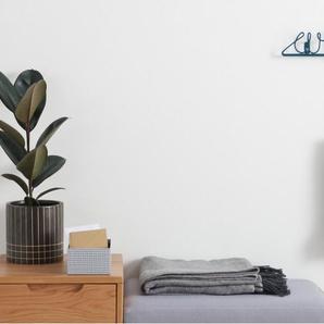 Essentials - Albus, portemanteau mural en métal, bleu canard