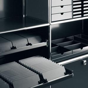 USM Haller Ensemble de boîtes Inos C4 - 5 corbeilles - gris clair - ouvert
