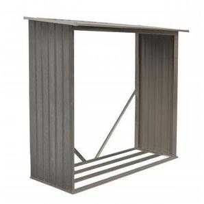 Bûcher en métal aspect BOIS VIEILLI® - 1,37 m² - CHALET & JARDIN