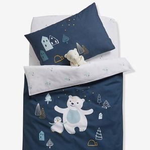 Housse de couette bébé LAPONIE bleu nuit