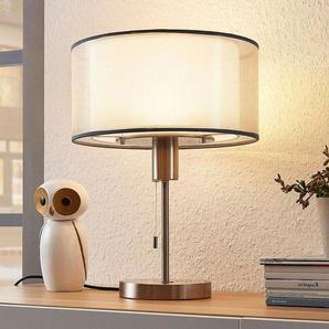 Lampe à poser LED en tissu Amon réglable, grise