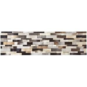 Tapis en cuir beige 80 x 300 cm ARTY