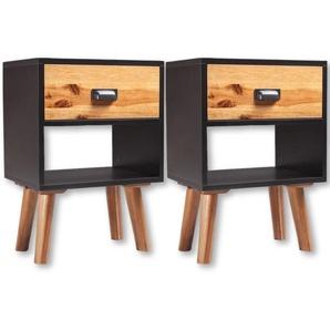 Table de nuit chevet commode armoire meuble chambre 2 pcs bois massif dacacia 40 x 30 x 58 cm - Bois - HELLOSHOP26