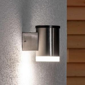 Applique solaire LED Tyson, ronde, satinée