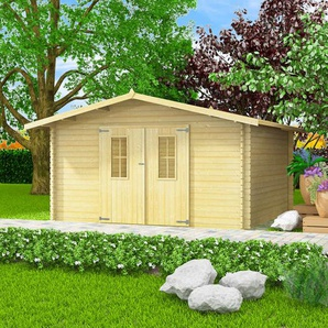 Abri de jardin pour bûches de bois 34 mm 4 x 4 m Bois massif - VIDAXL