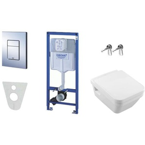 Grohe Pack WC Grohe Rapid SL + Cuvette Villeroy & Boch + Plaque de commande Grohe Skate Chrome (38528SET1-KB)