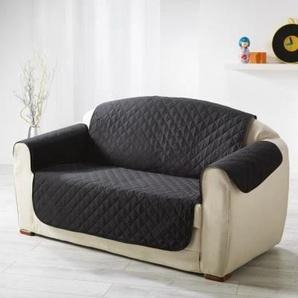 DOUCEUR dINTERIEUR Protège fauteuil matelassé Club 165x179 cm noir