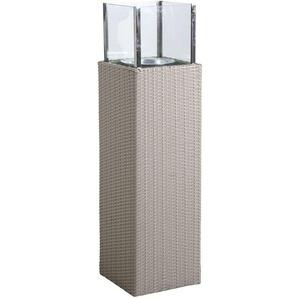 Photophore dextérieur gris en résine et verre Hauteur 115 cm - AUBRY GASPARD