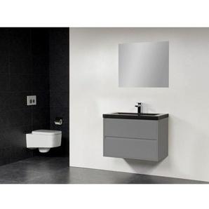 Saniclass New Future XXS Corestone Meuble salle de bain 80cm avec miroir gris