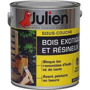 Sous-Couche Pour Bois Exotiques Et Résineux - aspect Satiné 2,5L - Julien - Blanc