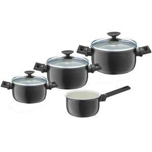 BERNDES Set de 4 casseroles Clever Alu Spécial Elégance - Ø 16-20-24-26 cm - Noir et transparent
