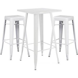 SKLUM - Lot de Table Haute LIX & 2 Tabourets Hauts LIX Blanc